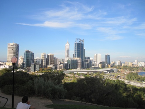 A vida em perth - CBD visto do Kings park