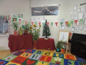 Natal na sala do kindy no meu trabalho