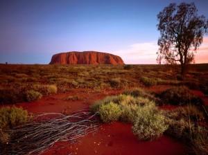Uluru na Austrália