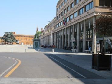Colunas da praça da cidade que serviram de inspiração para projetos